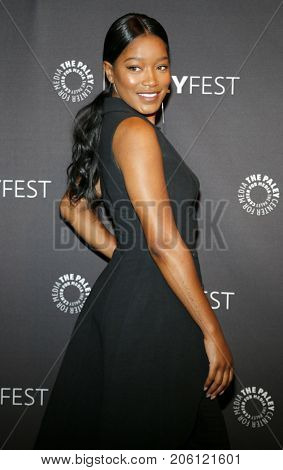 Keke Palmer at the 11th Annual PaleyFest Fall TV Previews - EPIX's 'Berlin Station' held at the Paley Center for Media in Beverly Hills, USA on September 16, 2017.
