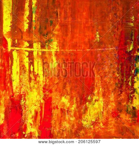 Dark red oil painted texture - Abstract background