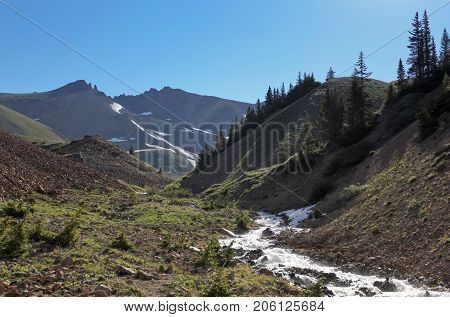A Rushing Silver Creek in the San Juan Mountains of Colorado