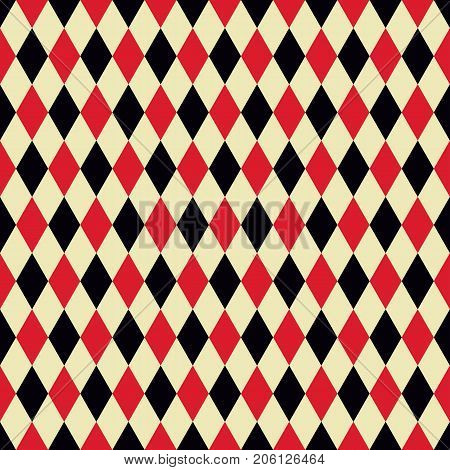 Seamless red and black casino pattern background texture