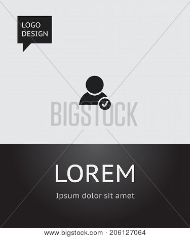Vector Illustration Of Web Symbol On Verified Account Icon