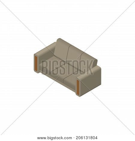 Couch Vector Element Can Be Used For Couch, Sofa, Settee Design Concept.  Isolated Sofa Isometric.