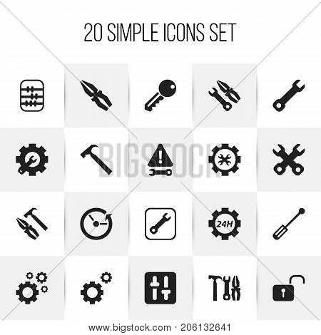 Set Of 20 Editable Toolkit Icons. Includes Symbols Such As Access, Reconstruction, Support Center And More