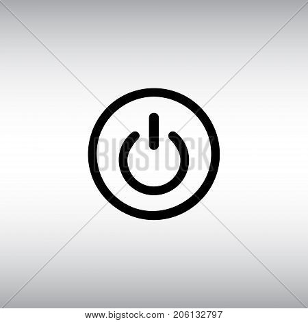 On / off isolated vector icon. On off flat vector sign. Switch round button vector illustration.