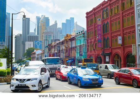 Traffic At Rush Hour, Singapore