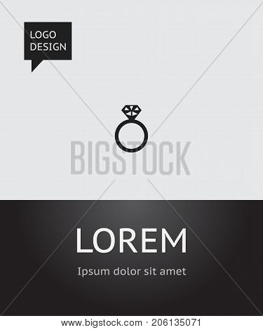 Vector Illustration Of Amour Symbol On Jewelry Icon