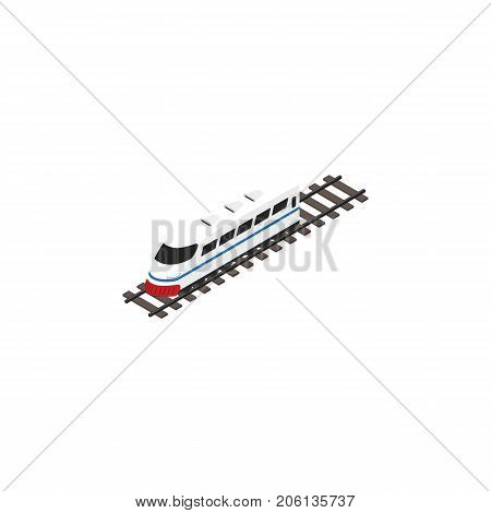 Underground Vector Element Can Be Used For Underground, Speed, Train Design Concept.  Isolated Speed Train Isometric.