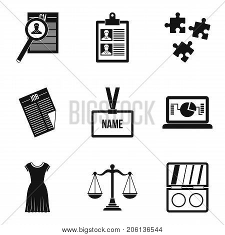 Press icons set. Simple set of 9 press vector icons for web isolated on white background