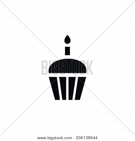 Dessert Vector Element Can Be Used For Cupcake, Muffin, Dessert Design Concept.  Isolated Muffin Icon.