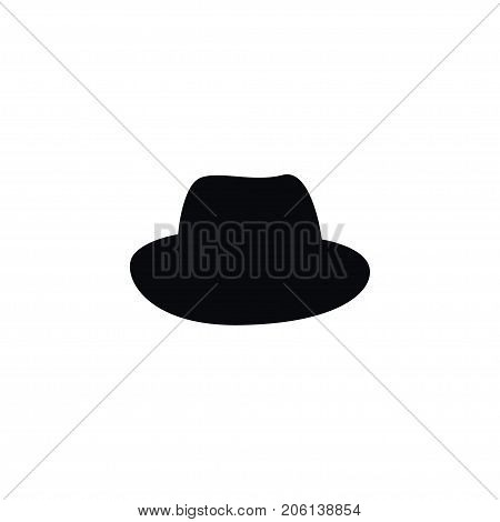 Panama Vector Element Can Be Used For Hat, Cap, Dress Design Concept.  Isolated Fedora Icon.