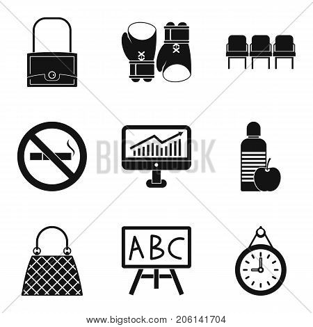 Sack icons set. Simple set of 9 sack vector icons for web isolated on white background