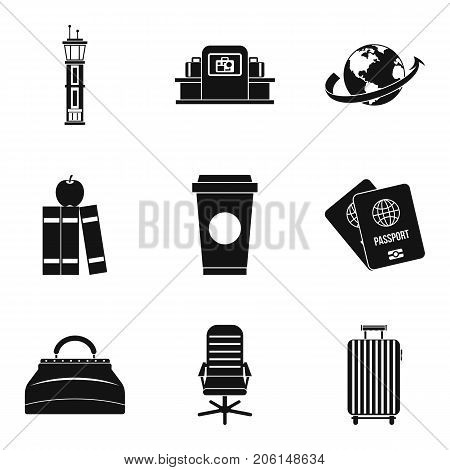 Personal things icons set. Simple set of 9 personal things vector icons for web isolated on white background
