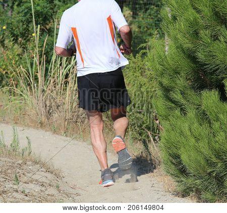 Man Runs On The Beach
