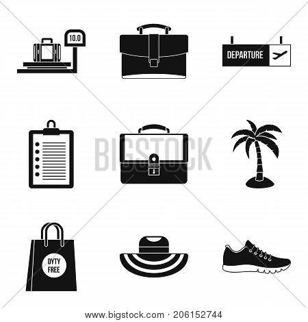 Knapsack icons set. Simple set of 9 knapsack vector icons for web isolated on white background