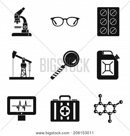 Extraction of energy icons set. Simple set of 9 extraction of energy vector icons for web isolated on white background