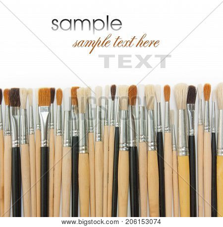 the Brushes isolated on the white background