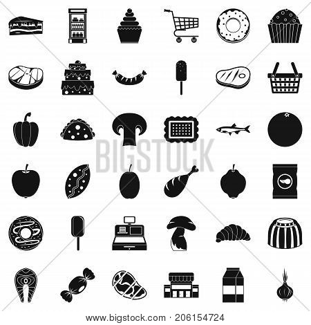 Buy icons set. Simple style of 36 buy vector icons for web isolated on white background
