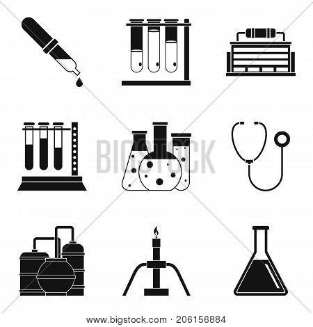 Scientific director icons set. Simple set of 9 scientific director vector icons for web isolated on white background
