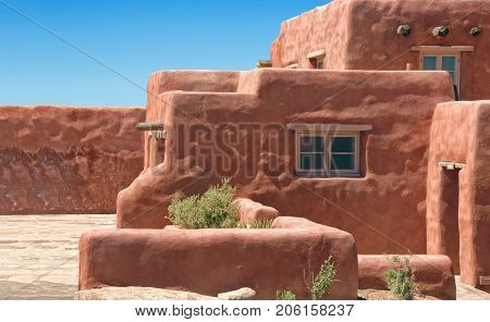 Traditional adobe architecture, showing its natural unevenness