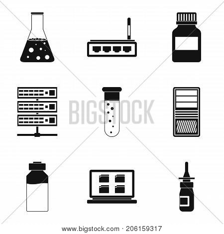 Medical practice icons set. Simple set of 9 medical practice vector icons for web isolated on white background