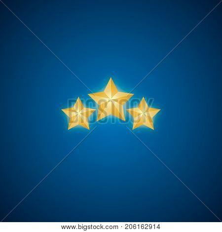 Golden Star Vector. Christmas Stars. Isolated Badge For Website Or App - Stock Infographics