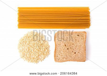Carbohydrate Pasta, Rice And Wholemeal Bread