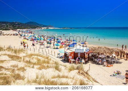Chia, Sardinia - August 2017 - Su Giudeu Beach, Chia, Sardinia