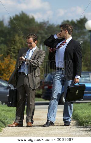Business Men Walking