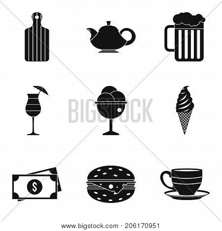 Tasty dessert icons set. Simple set of 9 tasty dessert vector icons for web isolated on white background