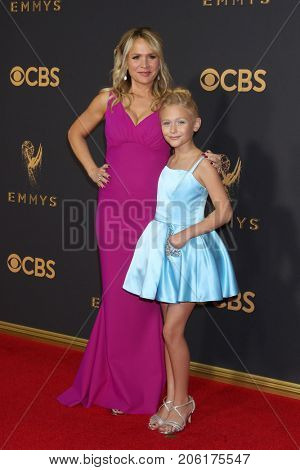 LOS ANGELES - SEP 17:  Barbara Alyn Woods, Alyvia Alyn Lind at the 69th Primetime Emmy Awards - Arrivals at the Microsoft Theater on September 17, 2017 in Los Angeles, CA