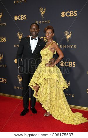 LOS ANGELES - SEP 17:  Sterling K Brown, Ryan Michelle Bathe at the 69th Primetime Emmy Awards - Arrivals at the Microsoft Theater on September 17, 2017 in Los Angeles, CA