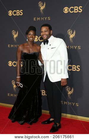 LOS ANGELES - SEP 17:  Anthony Anderson, Guest at the 69th Primetime Emmy Awards - Arrivals at the Microsoft Theater on September 17, 2017 in Los Angeles, CA