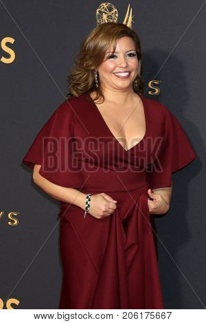 LOS ANGELES - SEP 17:  Justina Machado at the 69th Primetime Emmy Awards - Arrivals at the Microsoft Theater on September 17, 2017 in Los Angeles, CA