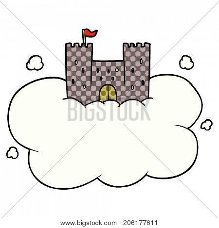 cartoon castle in sky