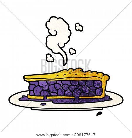 cartoon blueberry pie