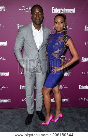 LOS ANGELES - SEP 15:  Sterling K. Brown and Ryan Michelle Bathe arrives for the Entertainment Weekly Pre Emmy Party on September 15, 2017 in West Hollywood, CA