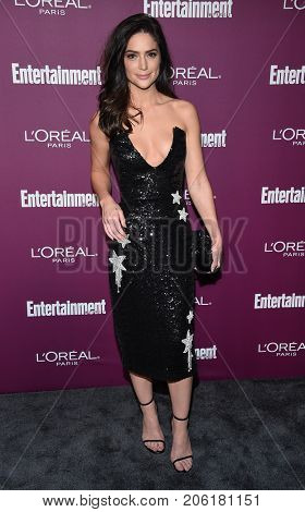 LOS ANGELES - SEP 15:  Janet Montgomery arrives for the Entertainment Weekly Pre Emmy Party on September 15, 2017 in West Hollywood, CA