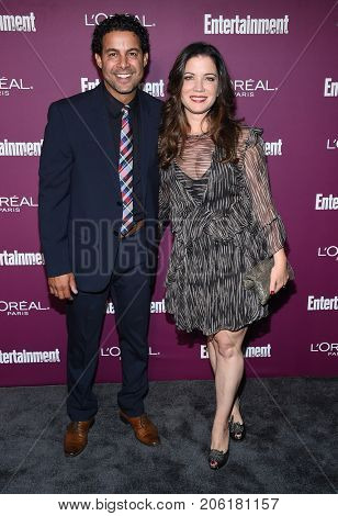 LOS ANGELES - SEP 15:  Jon Huertas and Nicole Huertas arrives for the Entertainment Weekly Pre Emmy Party on September 15, 2017 in West Hollywood, CA