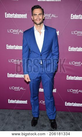 LOS ANGELES - SEP 15:  Cheyenne Jackson arrives for the Entertainment Weekly Pre Emmy Party on September 15, 2017 in West Hollywood, CA