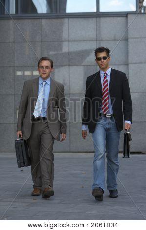 Walking Business Men