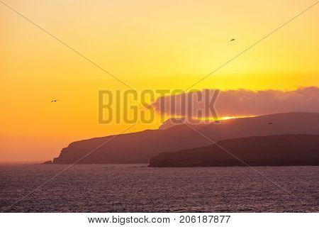 Beautiful coastline landscapes in  Paracas National Reserve, Ica Region, Pacific coast of Peru.