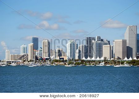 Downtown Miami and the Intercoastal Waterway