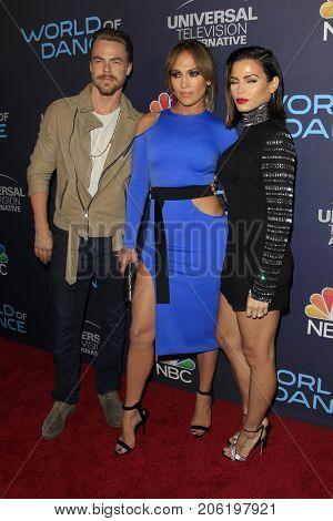 LOS ANGELES - SEP 19:  Derek Hough, Jennifer Lopez, Jenna Dewan Tatum at the
