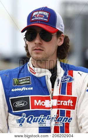 September 17, 2017 - Joliet, Illinois, USA: Ryan Blaney (21) hangs out on the grid before the Tales of the Turtles 400 at Chicagoland Speedway in Joliet, Illinois.