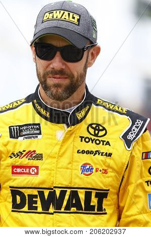 September 17, 2017 - Joliet, Illinois, USA: Matt Kenseth (20) hangs out on the grid before the Tales of the Turtles 400 at Chicagoland Speedway in Joliet, Illinois.