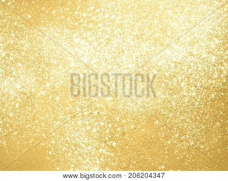 Sparkle background with gold glitter texture