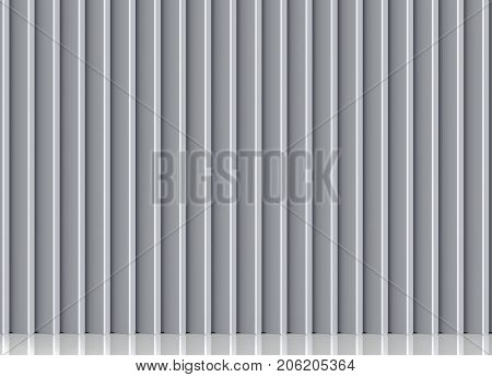 3d rendering. bevelled gray wood panels wall background