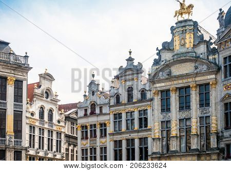 Cityscape in Brussels Europe - landmark of Brussels, Belgium