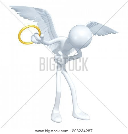 The Original 3D Angel Character Illustration