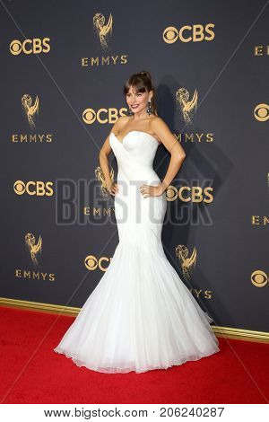 LOS ANGELES - SEP 17:  Sofia Vergara at the 69th Primetime Emmy Awards - Arrivals at the Microsoft Theater on September 17, 2017 in Los Angeles, CA